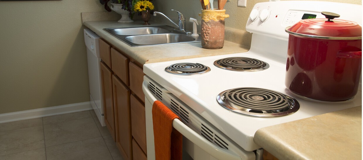 kitchen with ceramic tile floors